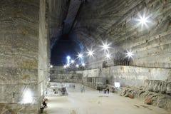 Mina de sal de Slanic - Unirea Foto de Stock