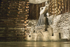 Mina de sal de Wieliczka imagens de stock