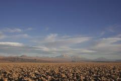 Mina de sal en los desiertos de Atacama Imagen de archivo libre de regalías