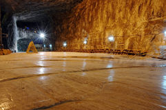 Mina de sal subterráneo Imágenes de archivo libres de regalías