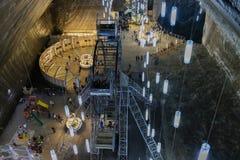 A mina de sal de Turda, Romênia fotografia de stock royalty free
