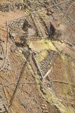 Mina de sulfuro volcánica del valle Fotografía de archivo libre de regalías