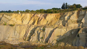 Mina de superfície da pedra calcária imagens de stock royalty free