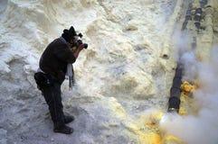 Mina del azufre Fotografía de archivo