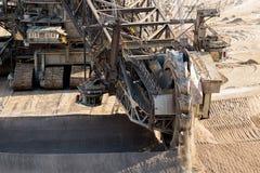 Mina del cielo abierto del excavador de la explotación minera de la rueda Fotografía de archivo