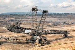 Mina del cielo abierto del excavador de la explotación minera de la rueda Foto de archivo
