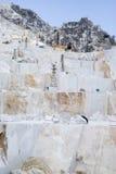Mina del mármol de Carraran Fotografía de archivo