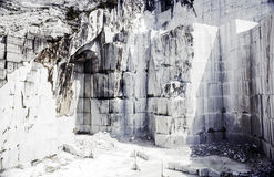 Mina del mármol de Carraran Imagenes de archivo