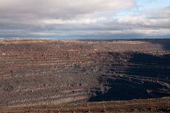 Mina del mineral de hierro imagen de archivo
