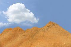 Mina del montón de la arena de la construcción Fotografía de archivo