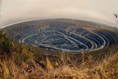 mina do granito de Geórgia fotografia de stock royalty free