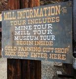 A mina e o moinho de ouro de Argo em Colorado Imagem de Stock