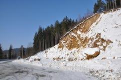Mina en invierno foto de archivo