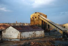 Mina industrial abandonada, Spain. Foto de Stock Royalty Free