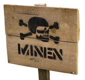 mina lądowa znak Obraz Royalty Free