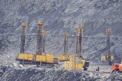 Mina Open-cast, extração do minério de ferro Imagens de Stock