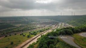 Mina opencast do lignite, Reno norte Westphalia em Alemanha imagens de stock royalty free