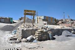 Mina - planta de enriquecimiento en Potosi imagen de archivo libre de regalías