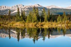 Mina Riley Loop. Trail at Jasper National Park Stock Images
