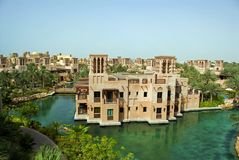 Mina Salam em Madinat Jumeirah Foto de Stock Royalty Free
