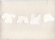 Mina stycken av papper som är sönderrivna från villfarelser som avläs för att göra rum för att dig ska skriva postituppsättning s Fotografering för Bildbyråer