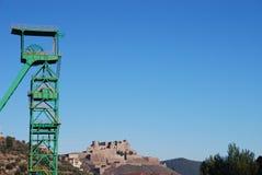 Mina y castillo de Cardona Imagenes de archivo