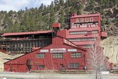 Mina y molino históricos de oro de Argo Foto de archivo libre de regalías