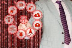 Minacce comuni di sicurezza dell'informazione Immagini Stock