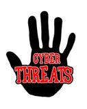 Minacce cyber di Handprint Fotografie Stock Libere da Diritti