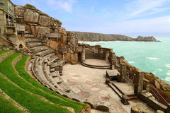 Minack teater, Porthcurno Royaltyfri Bild