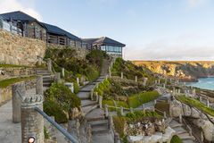 Minack teatr, na otwartym powietrzu teatr, Cornwall, UK Obrazy Royalty Free
