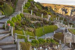 Minack teatr, na otwartym powietrzu teatr, Cornwall, UK Fotografia Royalty Free