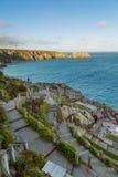 Minacktheater, een openluchttheater, Cornwall, het UK royalty-vrije stock fotografie