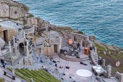 Minacktheater, een openluchttheater, Cornwall, het UK royalty-vrije stock foto