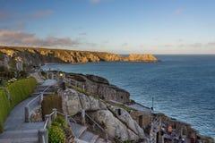 Minacktheater, een openluchttheater, Cornwall, het UK stock afbeeldingen