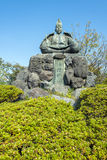 Minamoto-no Yoritomo. The statue of Minamoto-no Yoritomo.  Located along the Daibutsu hiking trail in Kamakura, Japan,  Minamoto-no Yoritomo is the samurai Stock Images