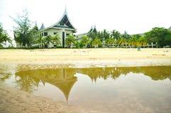 Minangkabau byggnadssemesterort Arkivbild