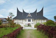 Minangkabau tradycyjny dom obrazy stock