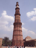 minar的Qutub,联合国科教文组织世界遗产 免版税库存照片