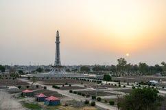 Minar e巴基斯坦拉合尔,旁遮普邦,巴基斯坦 免版税库存图片
