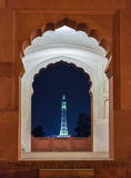 Minar-e-Pakistan. Is a public monument located in Iqbal Park which is one of the largest urban parks in Lahore, Punjab, Pakistan.[1] The tower was constructed Royalty Free Stock Image