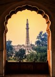 Minar e Paquistão do corredor da mesquita do badshahi Foto de Stock Royalty Free