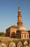 minar qutab του Δελχί Ινδία Στοκ Φωτογραφία
