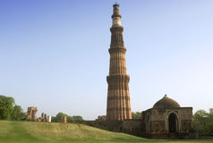 minar qutab του Δελχί Ινδία Στοκ εικόνα με δικαίωμα ελεύθερης χρήσης