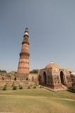minar qutub του Δελχί Ινδία Στοκ Εικόνες