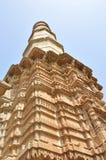 Minar at Shahar-ki-maasjid (mosque), chapaner, Gujarat. Shahar ki masjid was a private mosque of Sultan. It has five mihrabs, five arched entrance gates, prayer Stock Image