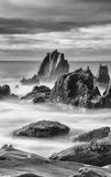 Minard Rocks 2. These rocks are Minard Strand, Co. Kerry, Ireland and are subject extremely rough seas (by Irish Standards Stock Image