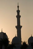 Minaret. Mosque minaret at sunset time Royalty Free Stock Images
