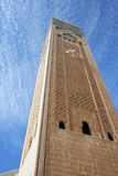 Minaret. World's tallest minaret - Hassan II Mosque in Casablanca, Morocco Royalty Free Stock Image