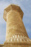 Minaret. With stone decors from selcuklu Royalty Free Stock Photography